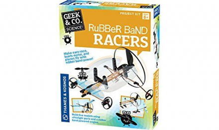 Thames & Kosmos Rubber Band Racers Model Kit
